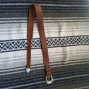 Vintage 90s Justin Western Leather Belt